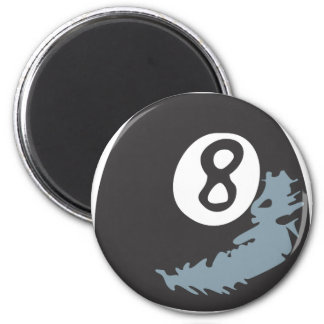 Billiard Eight Ball in Hand drawn Style Magnet
