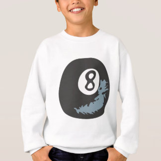 Billiard Eight Ball in Hand drawn Style Sweatshirt