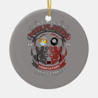Billiard Lions Ceramic Ornament
