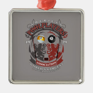 Billiard Lions Metal Ornament