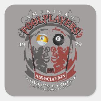 Billiard Lions Square Sticker