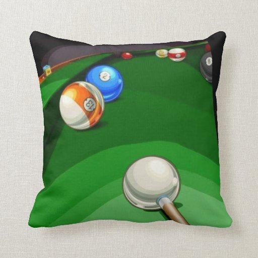 Billiard Lounge Pillow