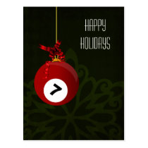 billiard player Christmas Cards