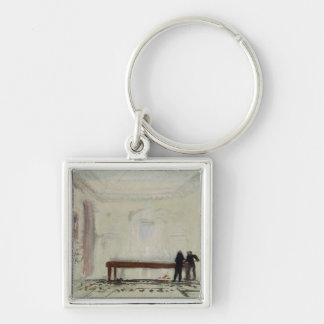 Billiard players at Petworth House, 1830 Keychain