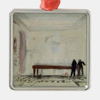 Billiard players at Petworth House, 1830 Metal Ornament
