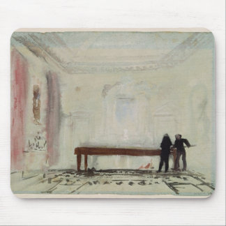 Billiard players at Petworth House, 1830 Mouse Pad