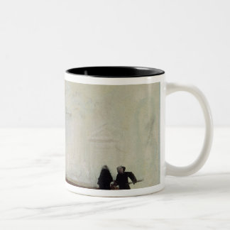 Billiard players at Petworth House, 1830 Two-Tone Coffee Mug