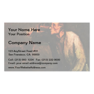 Billiard Players (The Drinker) by Honore Daumier Double-Sided Standard Business Cards (Pack Of 100)