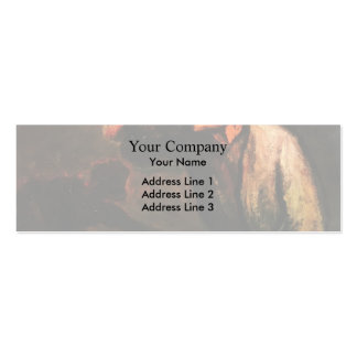 Billiard Players (The Drinker) by Honore Daumier Double-Sided Mini Business Cards (Pack Of 20)