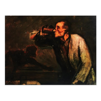 Billiard Players (The Drinker) by Honore Daumier Postcard