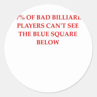 BILLIARD.png Classic Round Sticker
