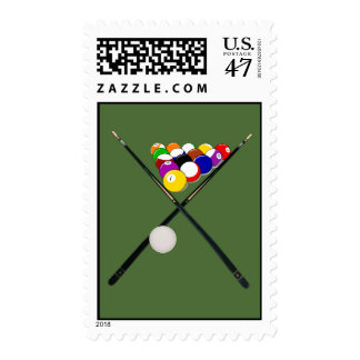 Billiard Pool Balls and Cues Postage