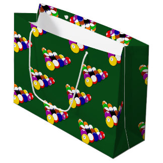 Billiard Pool Balls Large Gift Bag