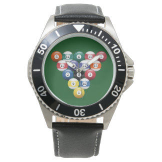 Billiard Pool Balls Racked Watch