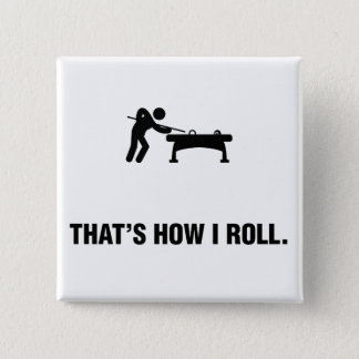 Billiard / Pool Pinback Button