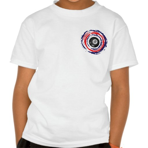 Billiard Red Blue And White Tee Shirts