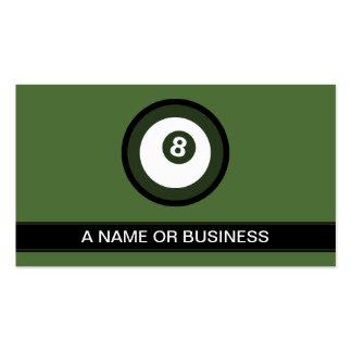 billiard turquoise bubble business card templates