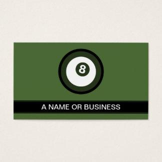 billiard turquoise bubble business card