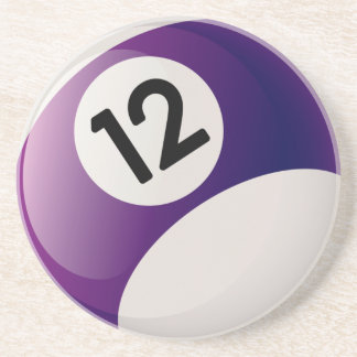 Billiards 12 Ball Drink Coaster