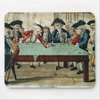 Billiards, 18th century etching by R.Sayer Mouse Pad