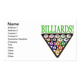 Billiards 2 business card