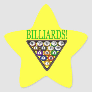 Billiards 2 star sticker