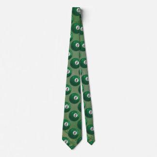 Billiards 6 Ball Pattern Neck Tie