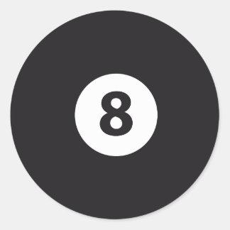 Billiards 8 classic round sticker