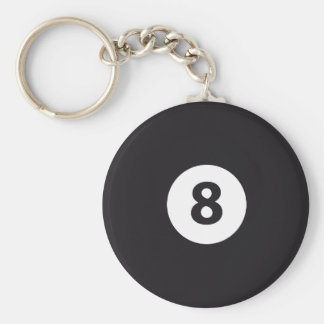 Billiards 8 keychain