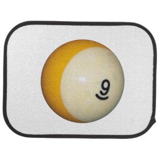 Billiards 9 Ball Car Mat