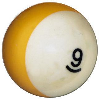 Billiards 9 Ball Porcelain Plate