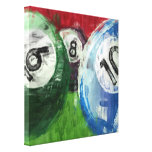 Billiards Abstract Canvas Print