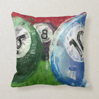 Billiards Abstract Throw Pillow