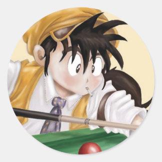 Billiards Anime Classic Round Sticker