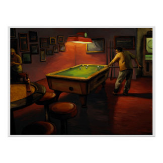Billiards at Embers Lounge-PETERS Poster