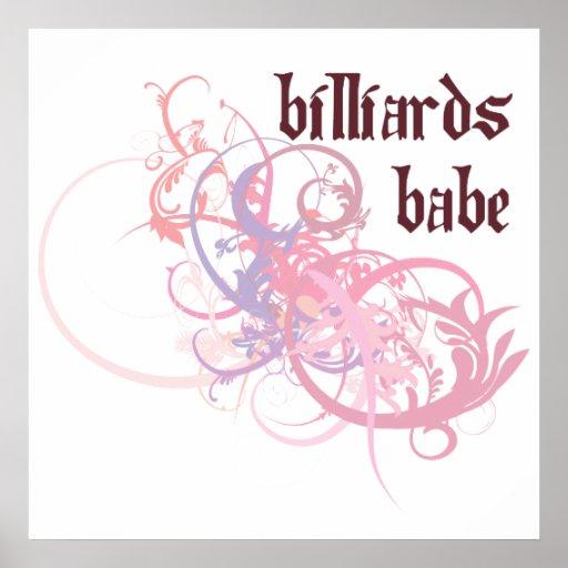 Billiards Babe Poster
