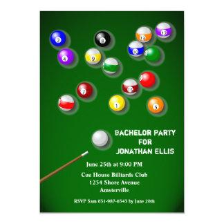 Billiards Bachelor Party Card