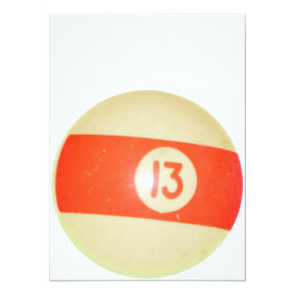 Billiards Ball #13 Card