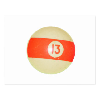 Billiards Ball #13 Postcard