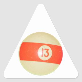 Billiards Ball #13 Triangle Sticker