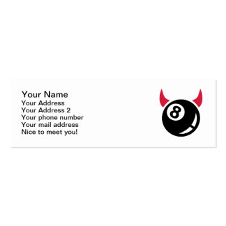 Billiards ball devil Double-Sided mini business cards (Pack of 20)