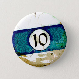 BILLIARDS BALL NUMBER 10 BUTTON