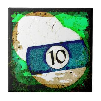BILLIARDS BALL NUMBER 10 CERAMIC TILE