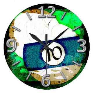 BILLIARDS BALL NUMBER 10 CLOCKS