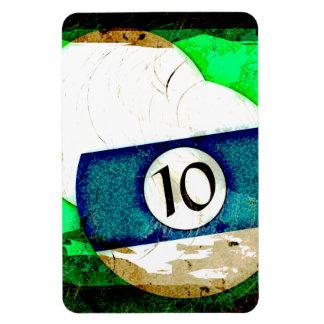 BILLIARDS BALL NUMBER 10 RECTANGULAR PHOTO MAGNET