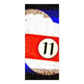 BILLIARDS BALL NUMBER 11 RACK CARD