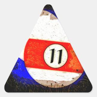 BILLIARDS BALL NUMBER 11 TRIANGLE STICKER