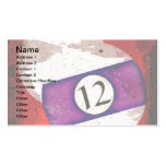 BILLIARDS BALL NUMBER 12 BUSINESS CARD