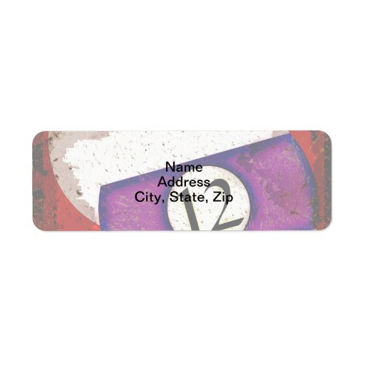 BILLIARDS BALL NUMBER 12 LABELS