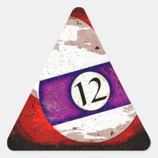 BILLIARDS BALL NUMBER 12 TRIANGLE STICKER